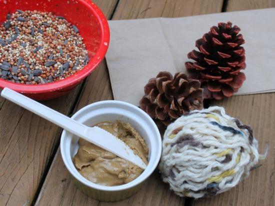 Mantequilla de maní Pinecone Bird Birders & mdash; La cocina de la avenida de la fuente