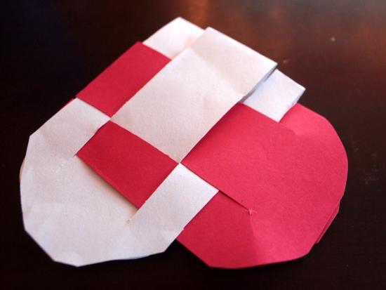 Woven Heart Basket Craft : Danish woven paper heart baskets by kiwico get steam