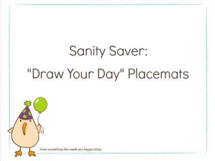 draw your day printable placemats