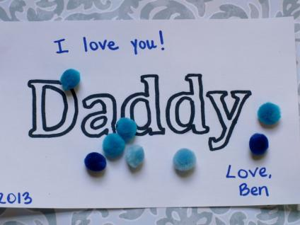 Toddler Fathers Day Craft With Pom Poms