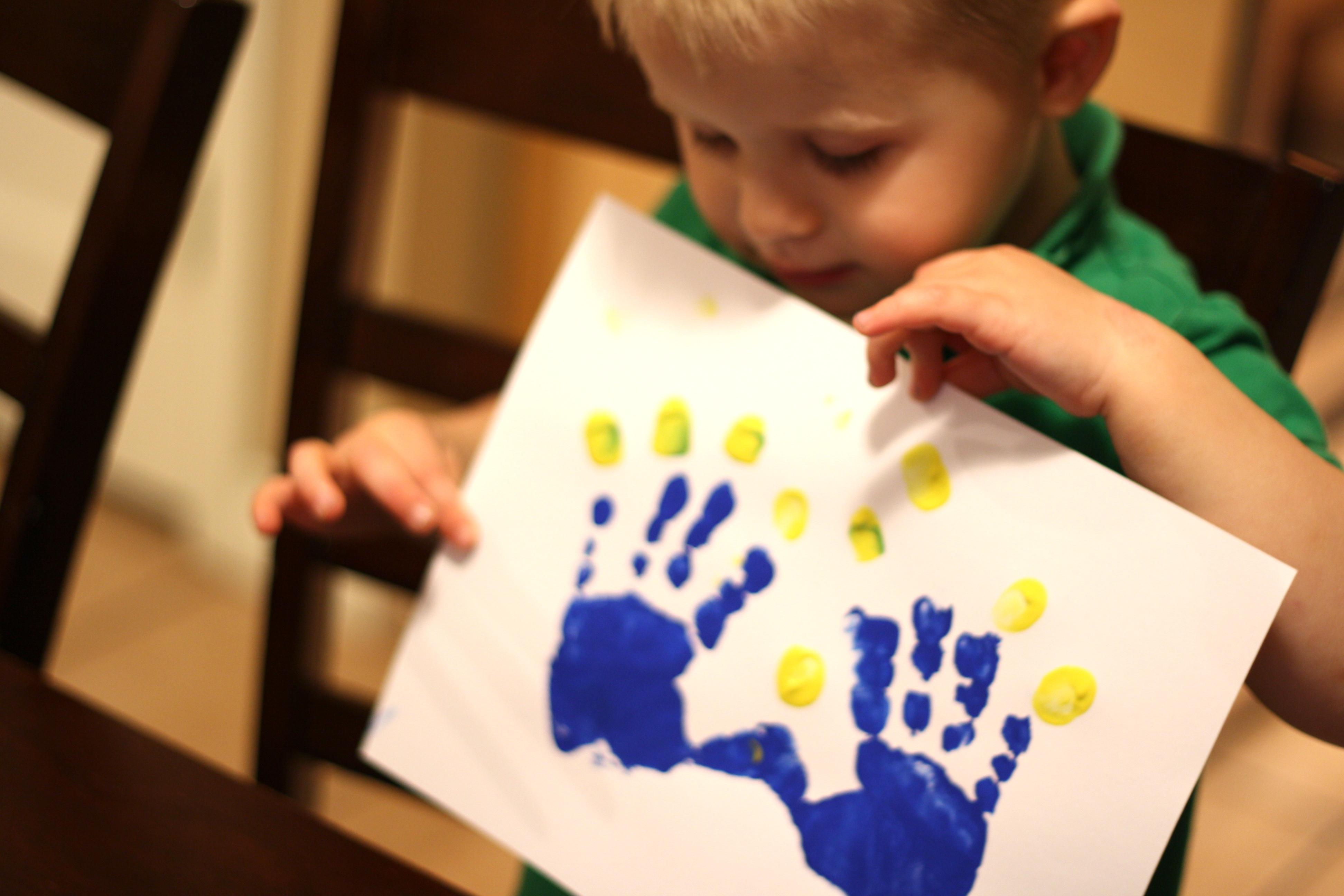 Uncategorized Handprint Menorah handprint menorah