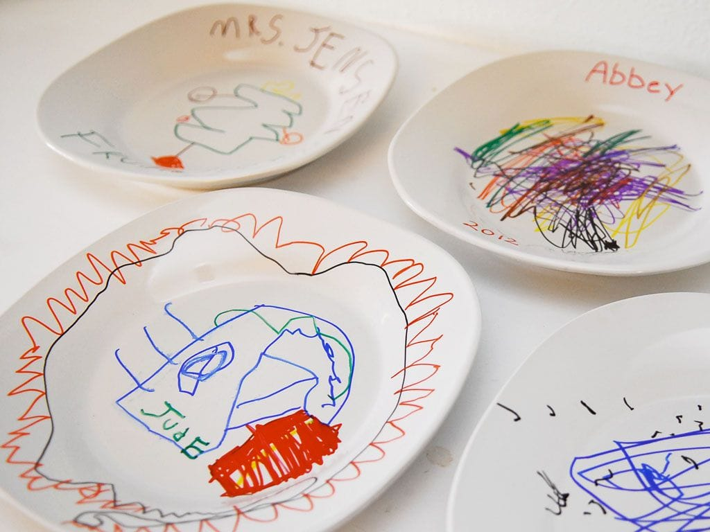 Decorated ceramic plates for Diy ceramic plates