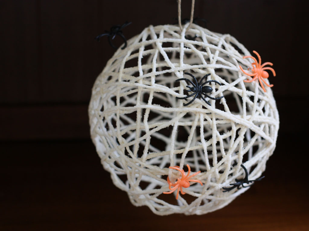 Easy Spider Web Craft