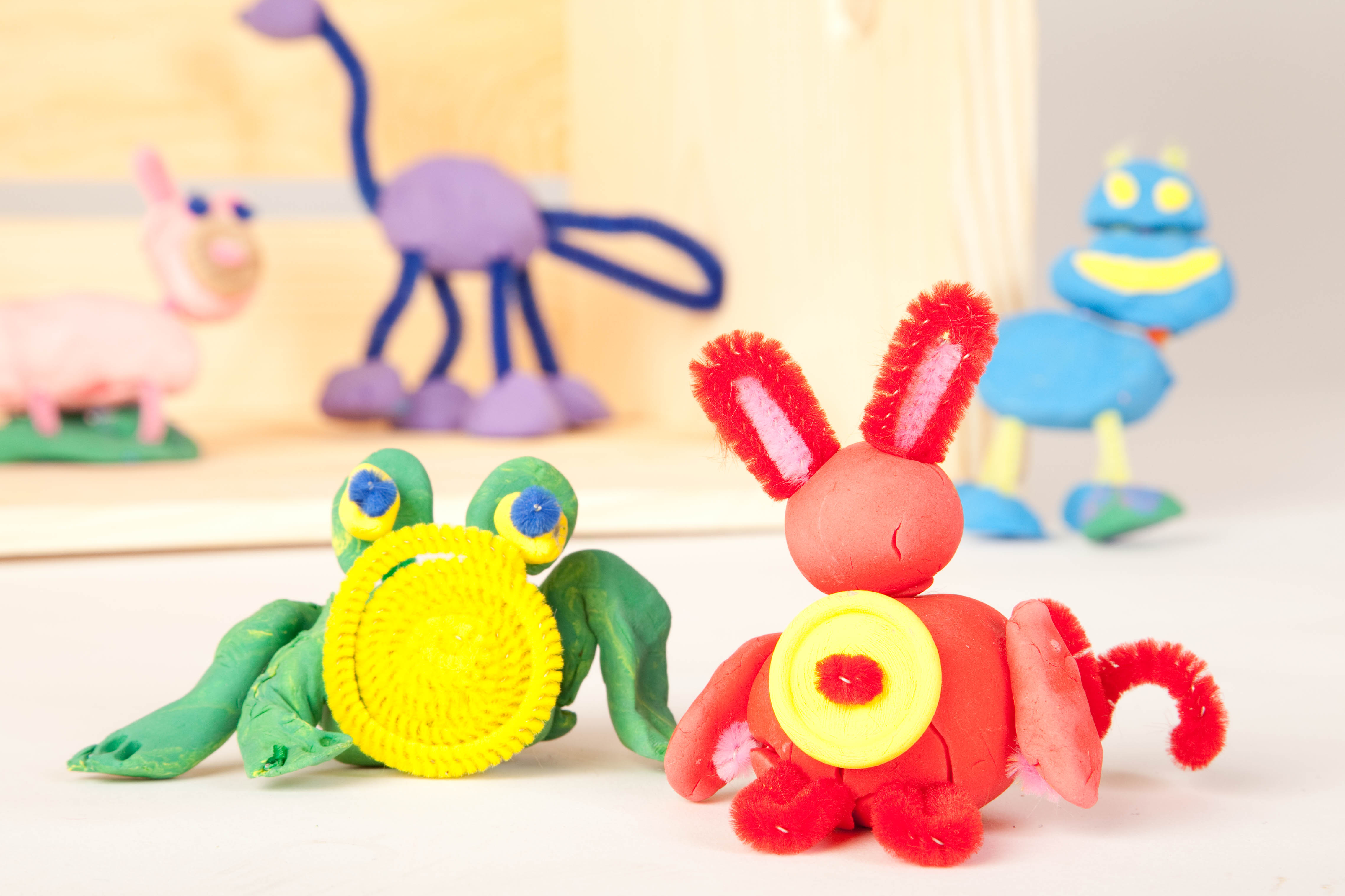 How to make clay toys use various shaping tools to - Clay Animals