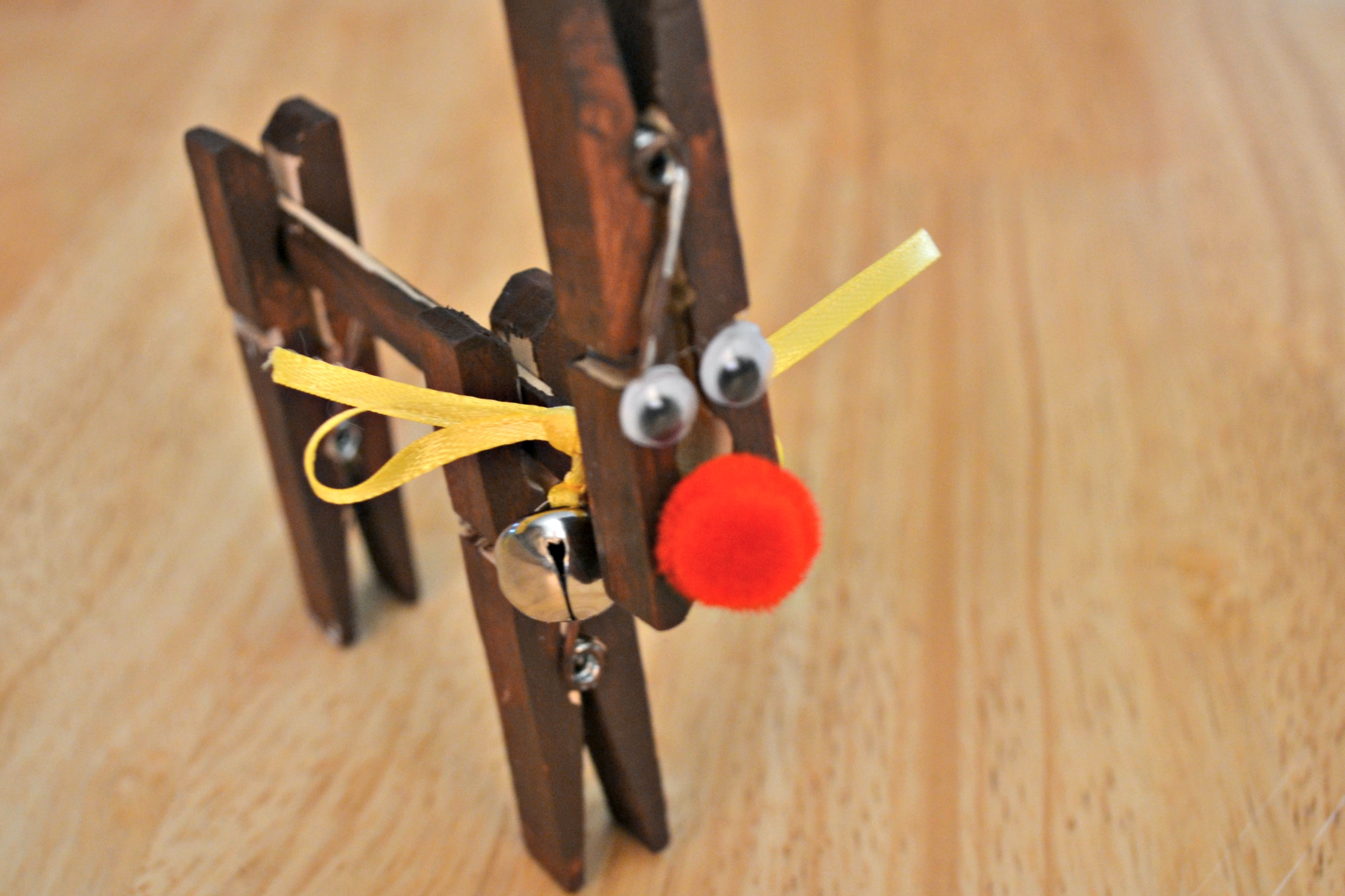 Clothespin reindeer for Reindeer project