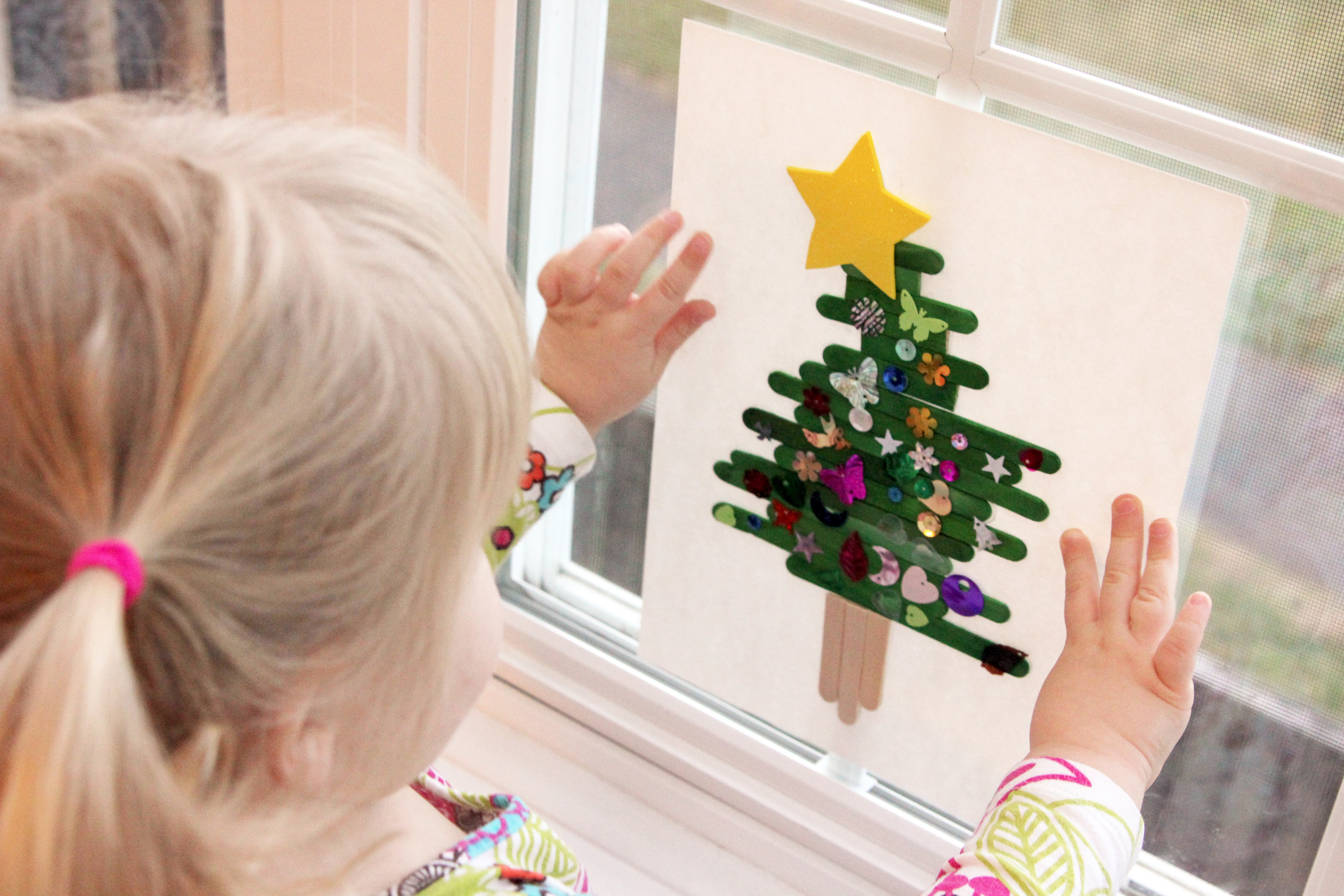 popsicle stick christmas tree - Stick Christmas Tree