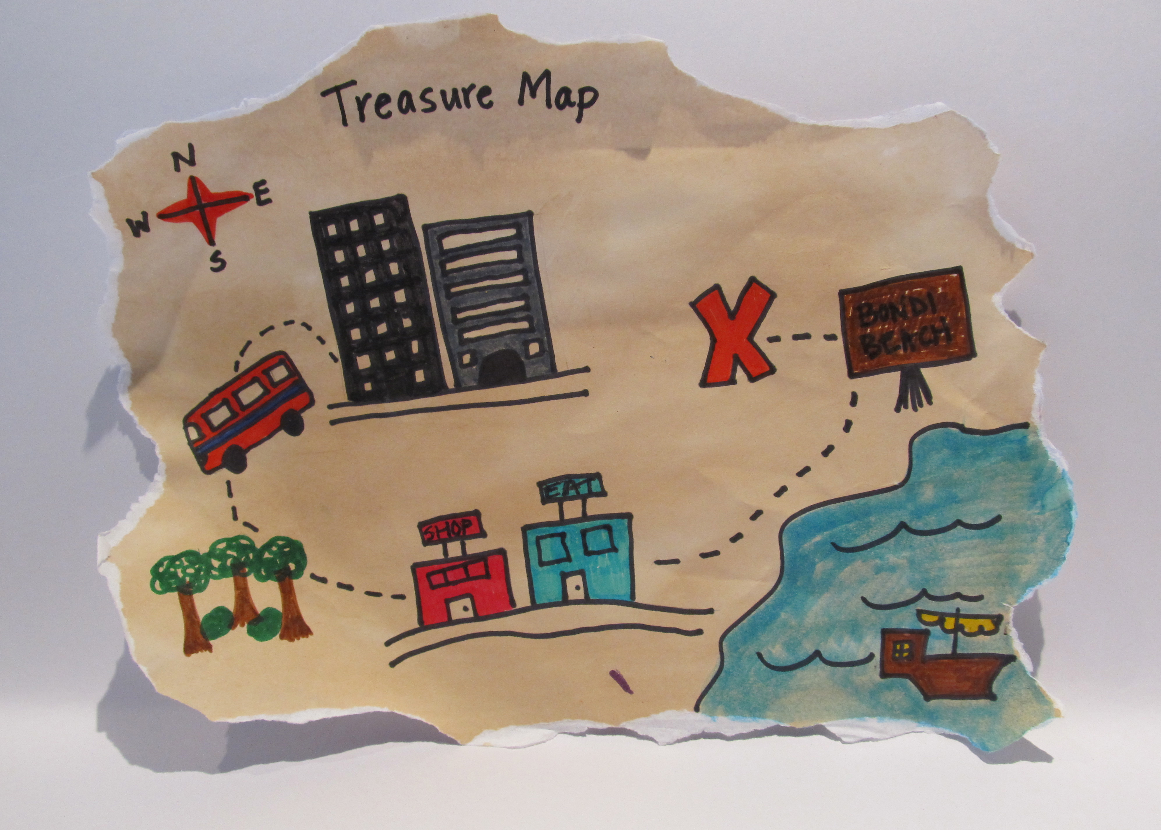 Tea Paper For Maps Journals And More - Map making for kids